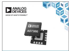 高达4 MSPS ,Analog Devices 16位ADC 贸泽开售