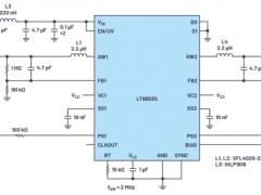 6.2 µA静态电流双通道,同步降压型Silent Switcher2稳压器介绍