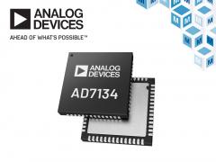 Analog Devices AD7134精密无混叠ADC在贸泽开售为高性能测试和测量提供支持