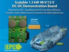 EPC新推由氮化镓场效应晶体管驱动且可扩展的DC/DC演示板